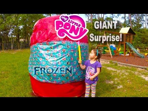 BIGGEST SURPRISE EGG Ever! Surprise Toys Eggs Disney Frozen MLP Spiderman Hello Kitty Powerwheels