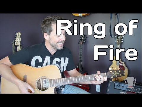 How to play Ring of Fire on the Guitar - Johnny Cash Guitar Lesson