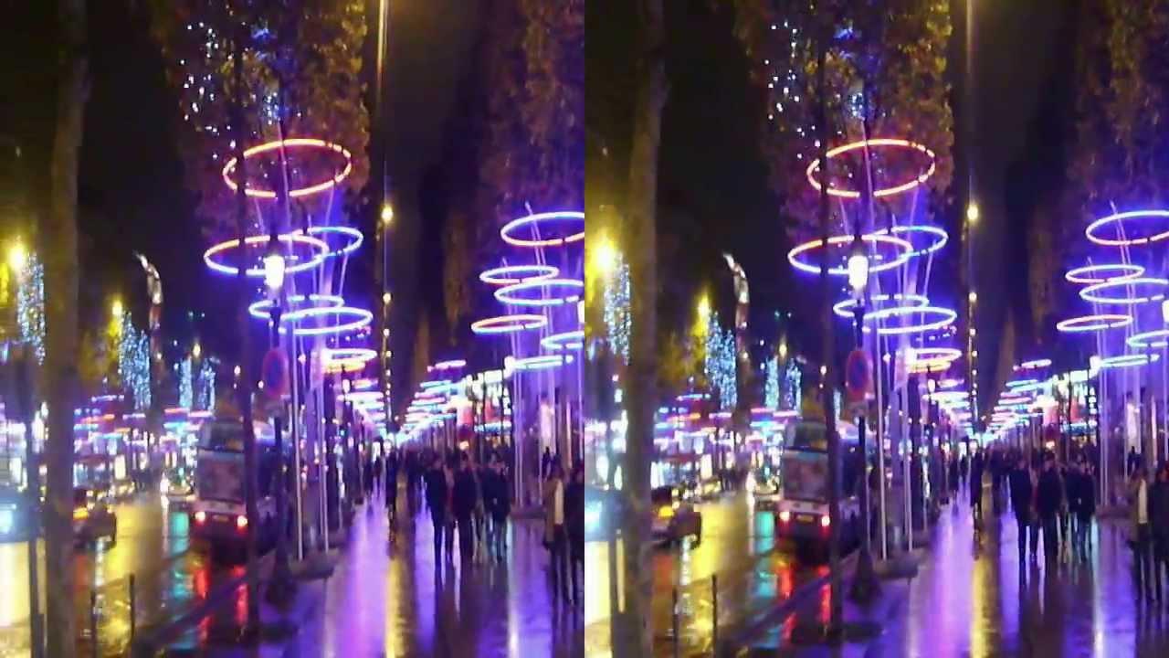 Noel Champs Elysees Paris 2013 En 3d 01 Youtube