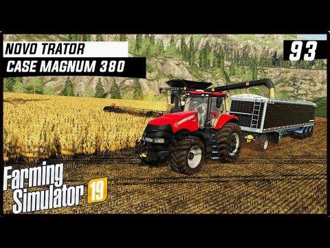 NOVO TRATOR NA FAZENDA CASE MAGNUM 380!   FARMING SIMULATOR 19 #93 [PT-BR] thumbnail