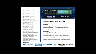 Doron Myersdorf, CEO of StoreDot at The Startup Perspective: SAE Battery and Electrification Summit