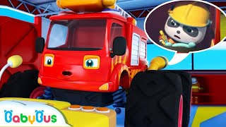 Monster Fire Truck | Baby Kitten's BBQ Party | Super Rescue Team | Kids Song | BabyBus Arabic