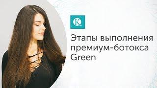 Этапы выполнения премиум-ботокса для волос Green