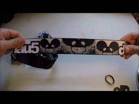 Deadmau5 Seatbelt Belt Unpackaging