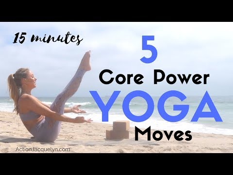 5 Core Power Yoga Moves 15 Minute At Home Yoga Ab Workout