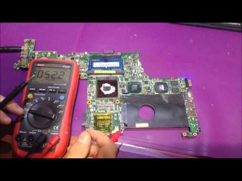 Ремонт ноутбука ASUS. Нет питания процессора. Ремонт цепи питания процессора.