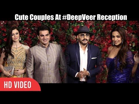 Arbaaz-Giorgia & Arjun-Malaika At Ranveer & Deepika Reception Party | #DeepVeer