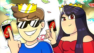 WE TURN THE KING AND QUEEN OF THE UNO!! ROBLOX UNO