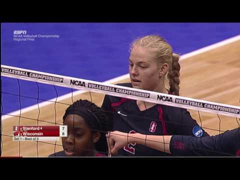 Stanford v Wisconsin, 12/10/2016 Women's Volleyball Regional Final