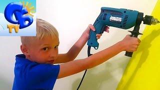 Как повесить полку IKEA показывает Старший Брат How to hang a shelf IKEA Starshiy Brat shows