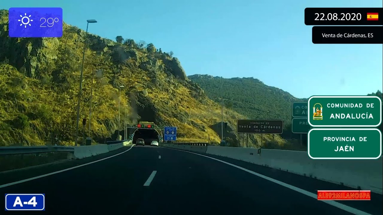 Driving From Madrid To Sevilla Spain 22 08 2020 Timelapse X4 Youtube