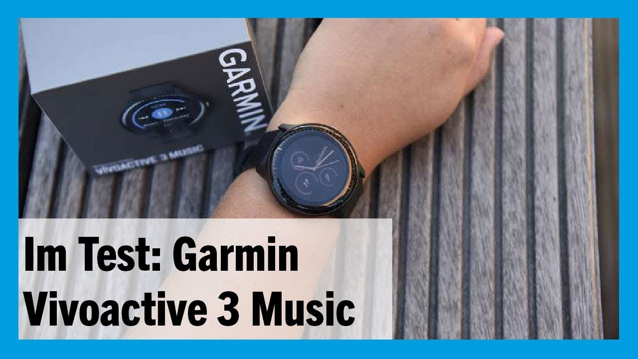 im test garmin smartwatch vivoactive 3 music 2018. Black Bedroom Furniture Sets. Home Design Ideas