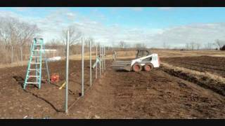 Fair Share Farm High Tunnel Ground Post Installation