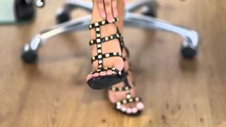 Kassy @ KlassyKassy.com (ankle strap open toe high heel shoes)