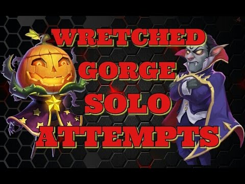 Castle Clash Wretched Gorge 3 Solo Attempts! Pt.2!