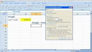 Finance in Excel 9 - View Live News and Headlines for Publicly Traded Companies and Stocks in Excel