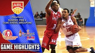Singapore Slingers vs San Miguel Alab Pilipinas | HIGHLIGHTS | 2017-2018 ASEAN Basketball League