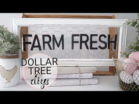 FARMHOUSE STYLE  DECOR DIY | DOLLAR TREE DIY | SPRING FARMHOUSE DECOR DIY