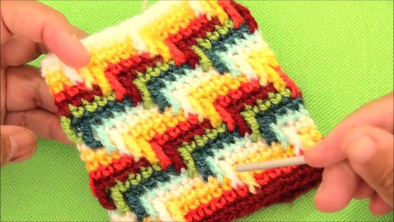 Monederos a Crochet en punto maravilloso arcoíris para cojines ...