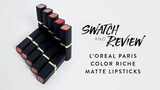 (GIVEAWAY!) L'Oreal Paris Color Riche Matte Lipstick   Swatch & Review thumbnail