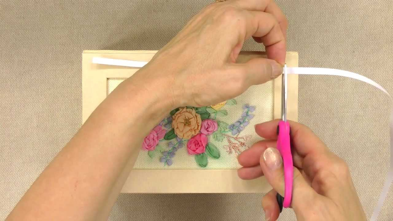 Ribbon Embroidery Stitches  Annie's Creative Woman Kitofthemonth Club   Youtube
