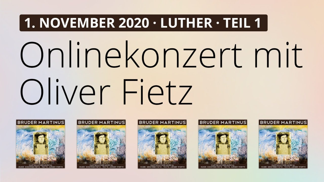 Online-Konzert am 1.11.2020