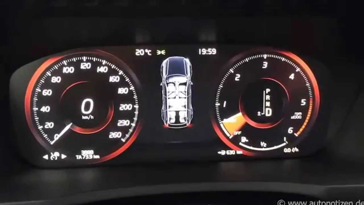 Volvo XC 90 Digital Display - YouTube