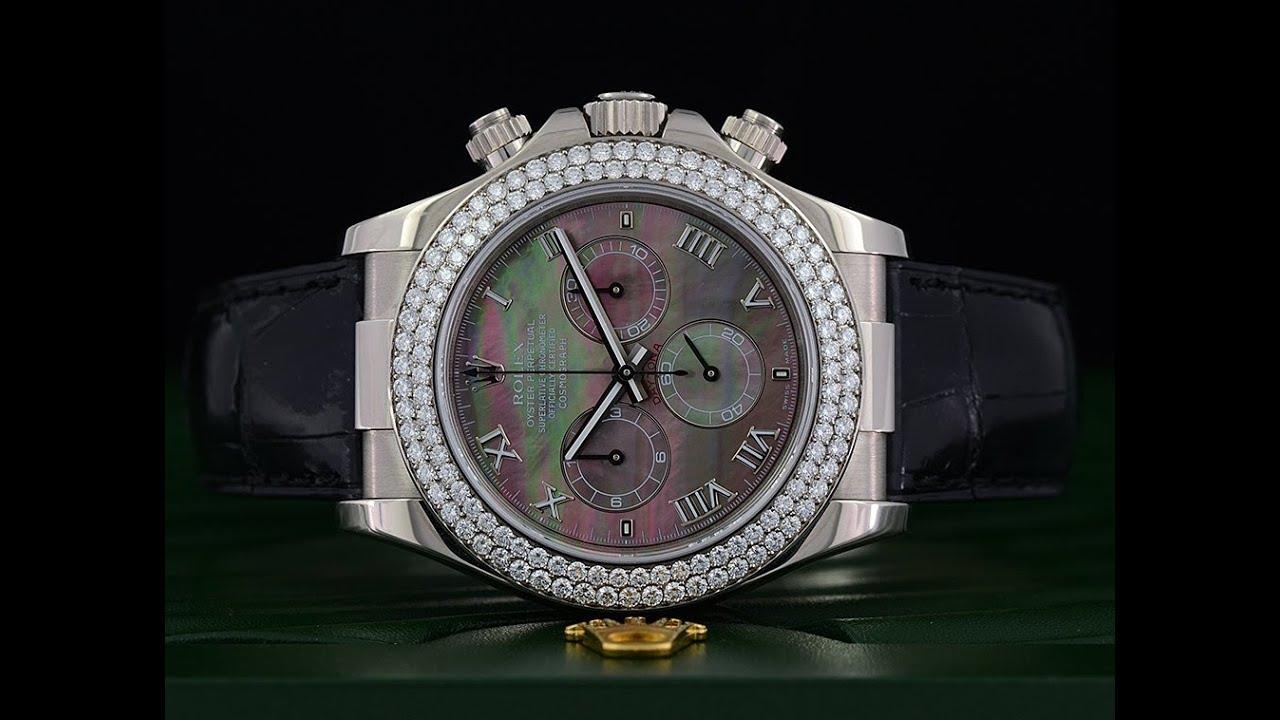 Rolex Daytona White Gold Diamond Bezel