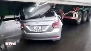 Đắk Nông, Xe ô tô 4 chỗ chui vào gầm xe container, 2 người tử vong