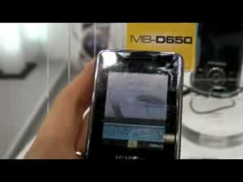 Hyundai MB-D650 preview at mobile world congress 2009
