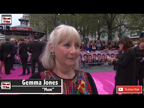 Gemma Jones is happy her character is still alive at Bridget Jones's Baby world premiere