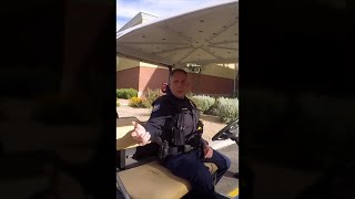 Cop doesn't even know the law