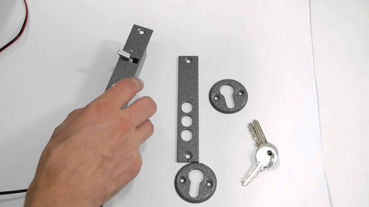 схема подключения электромеханического замка полис