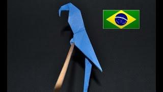 Origami: Arara  ( Manuel Sirgo ) - Instruções em português PT BR
