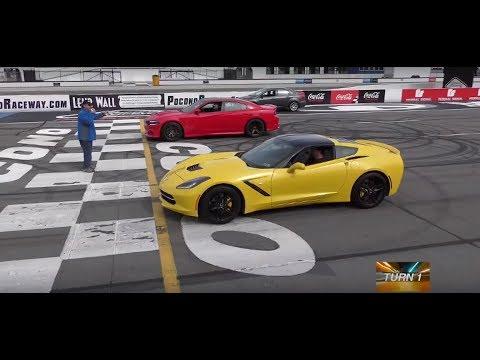 Charger Srt Hellcat Vs Base C7 Corvette Stingray Turn 1