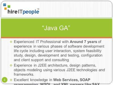 Java Resume GA