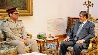 الحوار كامل بين محمد مرسي و السيسي قبل بيان العزل
