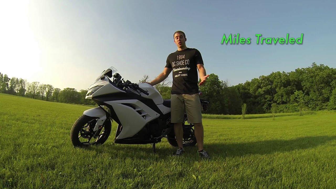 Kawasaki Ninja 300 Miles Per Gallon - Fuel Economy - MPG - YouTube