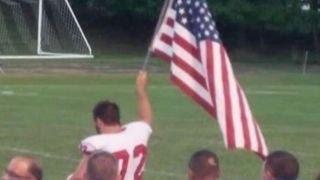 Video High School football player raises American flag at game download MP3, 3GP, MP4, WEBM, AVI, FLV Agustus 2018