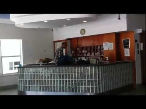 Angry Man With No Arms Destroys Hotel Lobby