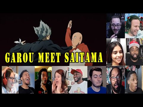 Reactor React To Garou Meet Saitama, One Punch Man Season 2 Episode 3 Reaction Mashup
