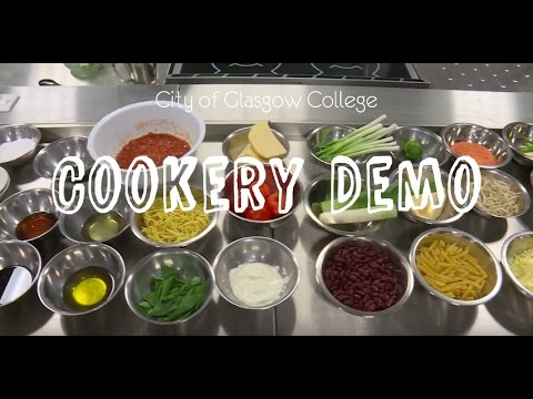 City of Glasgow College- Cooking Demo