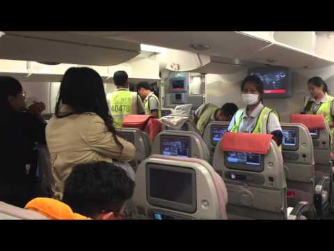 Emirate A380 layover cleaning