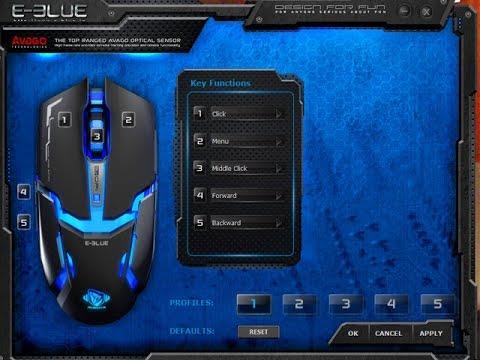 ตั้งค่าด้วย EBLUE Mouse Driver (เกมค่าย G โดนแบน) - YouTube