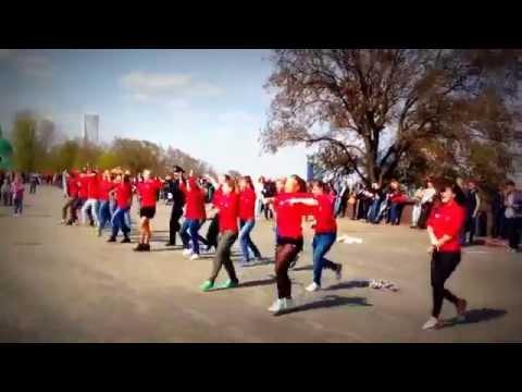 Классный флэшмоб  Воробьевы горы. Nice flash mob