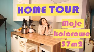 HOME TOUR Moje kolorowe 57m2