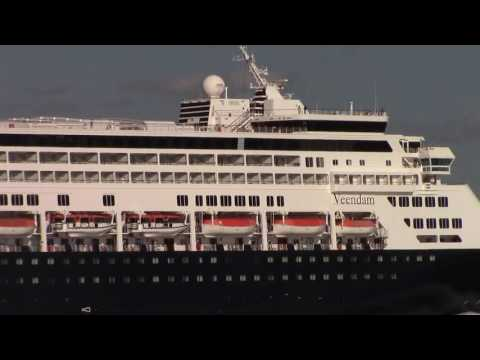 Cruise Ship VEENDAM Sailing from the Port of Halifax (Aug 8, 2016)