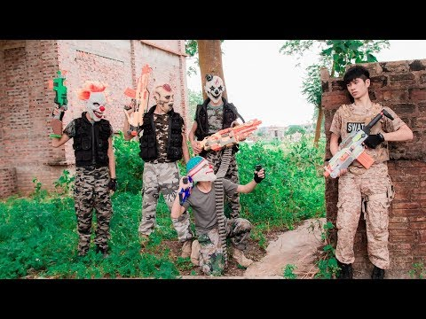MASK Nerf War : Special Warrior Nerf Guns Fight Dangerous Criminals Mask