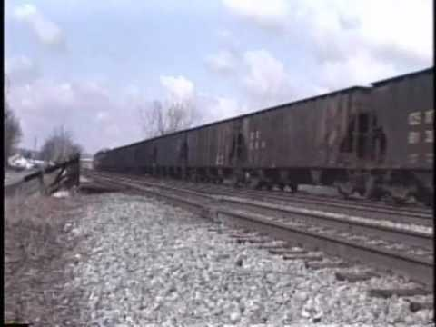 Two CSX trains at Barboursville, WV