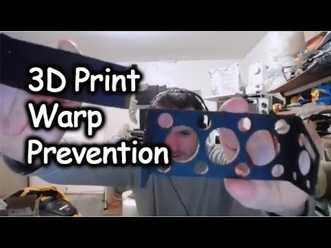 3d Printing ABS - Warping Large Flat Faces Solved - Relief Holes Method